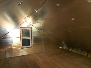 A Albany attic with SuperAttic installed.